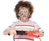 Fotografie Junge Opfer mit Strom