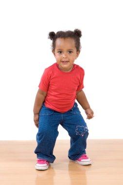 Adorable african baby dancing