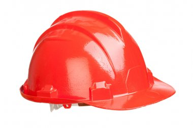 Red helmet isolated