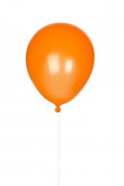 Orange balloon inflated