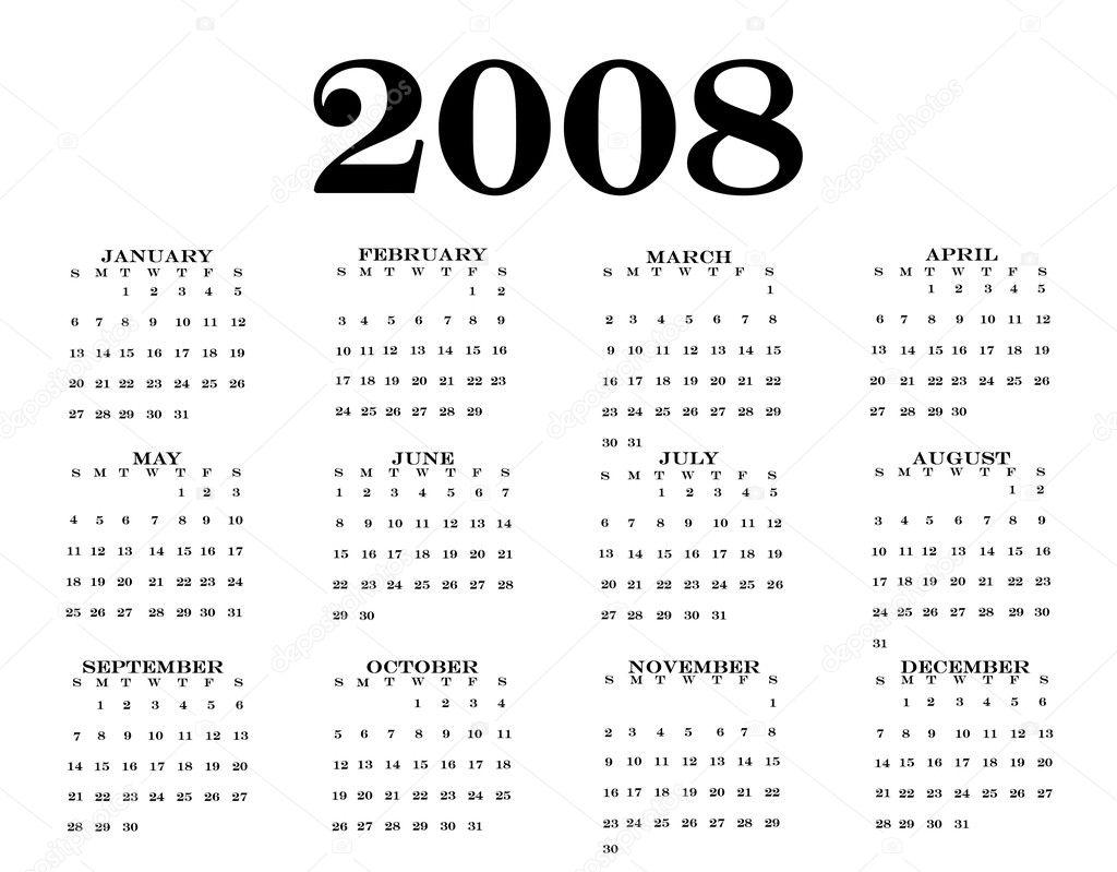 Calendario 2008.Calendario 2008 Fotos De Stock C Gelpi 9438736