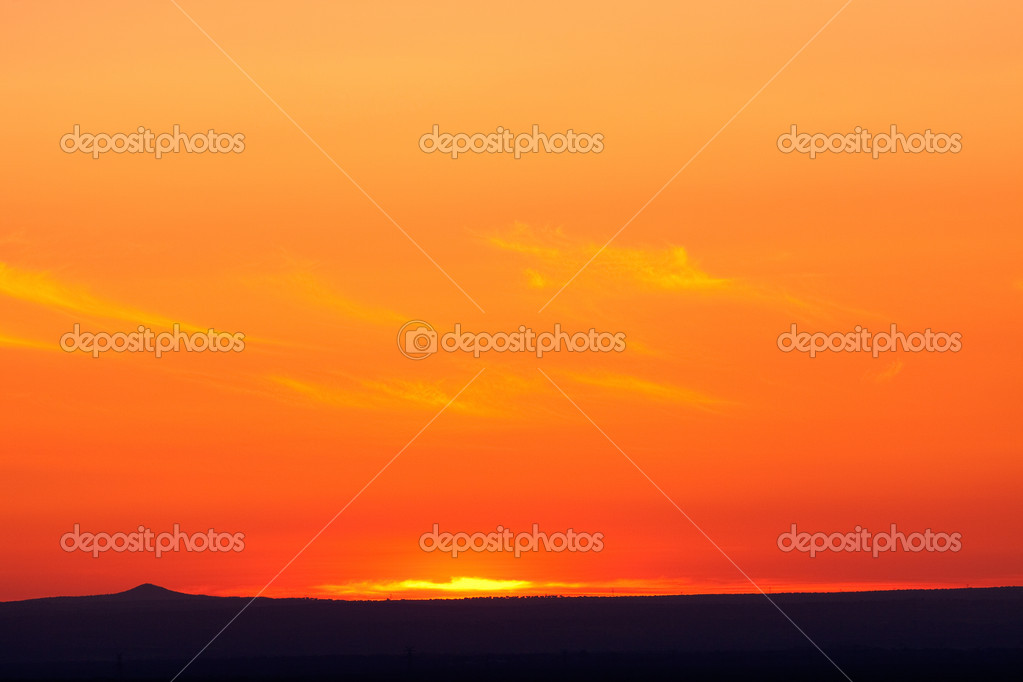 Beautiful orange sunset