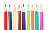 barevné tužky ostré vertikální