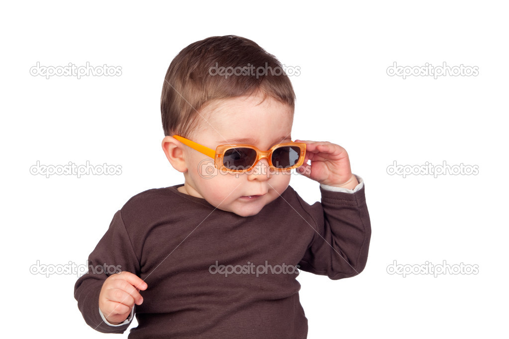 lindo bebê com óculos de sol — Fotografias de Stock © Gelpi  9499348 8ec714a717