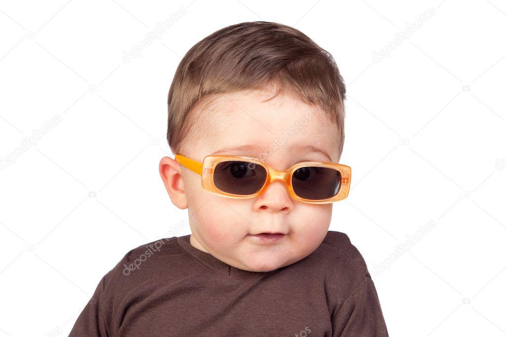 lindo bebê com óculos de sol — Fotografias de Stock © Gelpi  9499349 ed1e9031d8