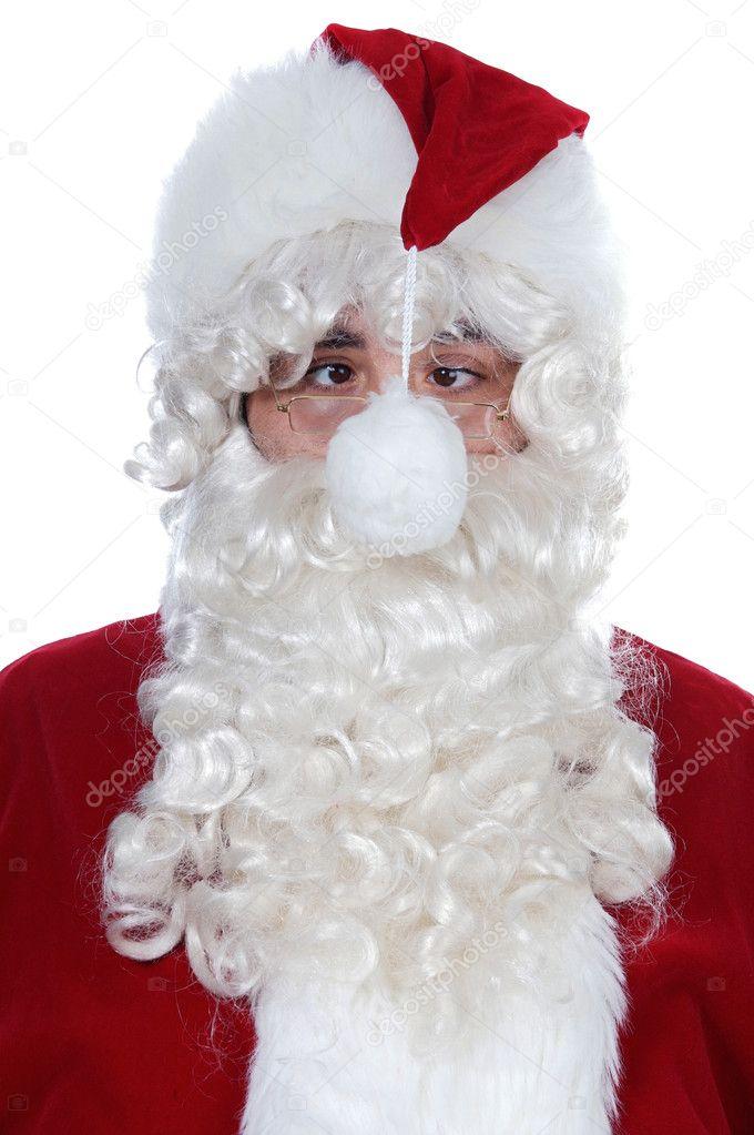 Vesgo Papai Noel com um pompom na frente de seu rosto — Foto de ... a69a6f1a44d