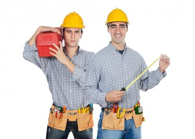Two construction workers