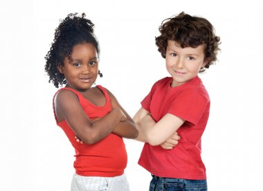 Two beautiful children of different races