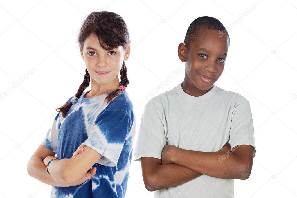 Imagenes De Niños De Distintas Razas: Dos Niños De Distintas Razas