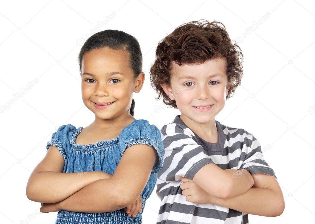Imagenes De Niños De Distintas Razas: Dos Niños De Diferentes Razas