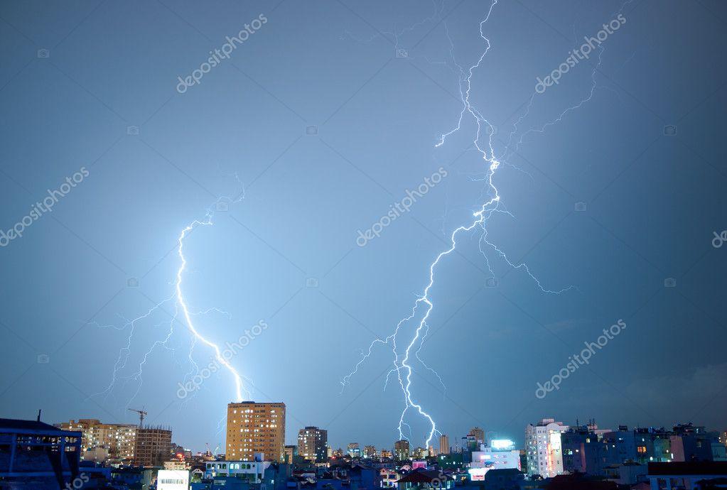 Two Dancing Lightnings