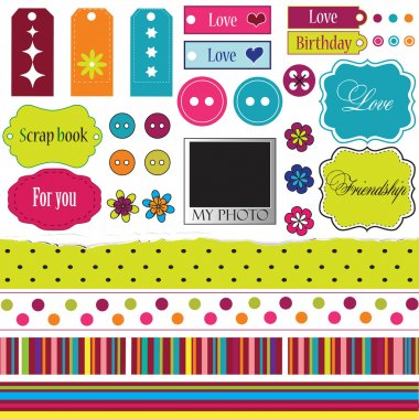 Elements for scrap-booking