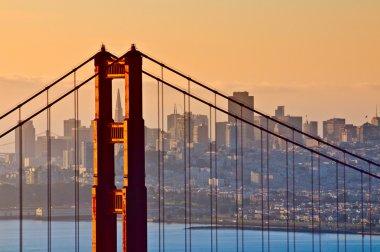 Golden Gate Bridge, San Francisco, California stock vector