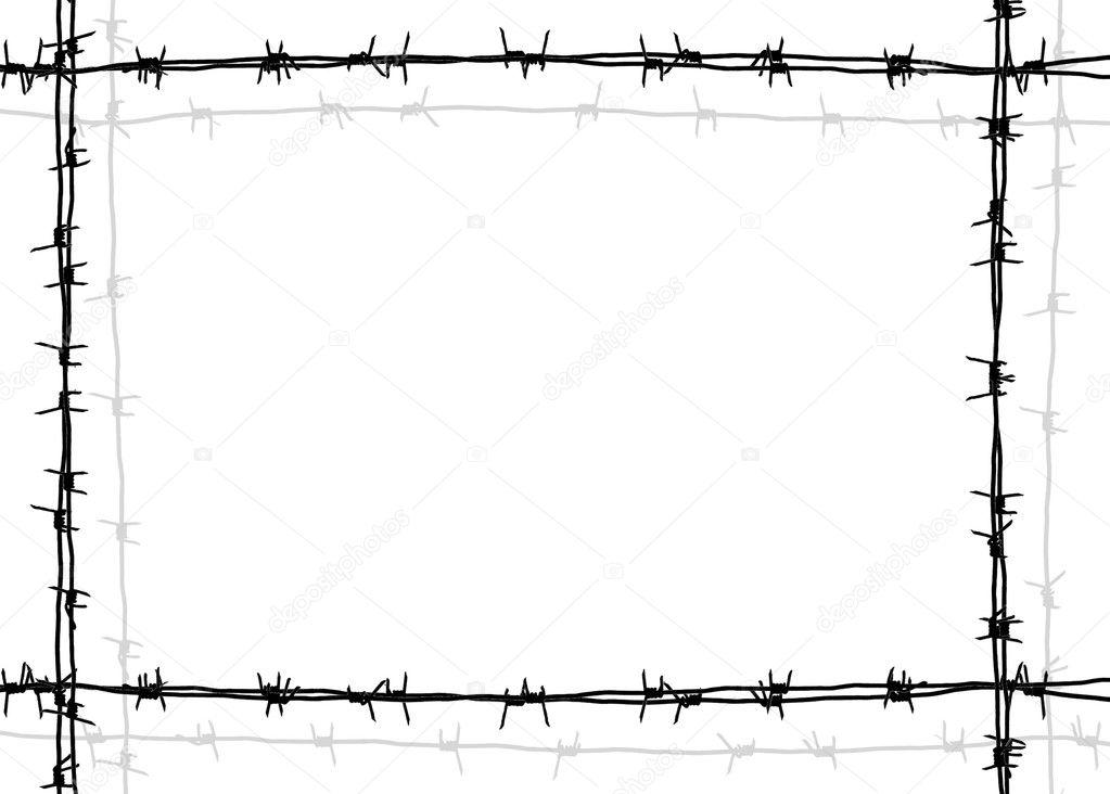 marco de alambre de púas — Fotos de Stock © javarman #9357747