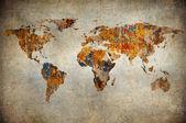 Grunge mapa světa