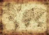Fotografie Ancient map of the world