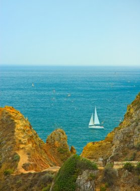 Yacht sailing in portuguese waters