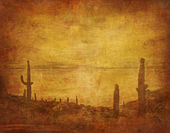 Fotografie Grunge background with wild west landscape