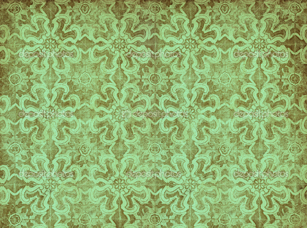 Papier Peint Vintage Vert Photographie Javarman C 9542207