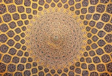 """Картина, постер, плакат, фотообои """"купол мечети, восточные украшения из исфахана, иран """", артикул 9580546"""