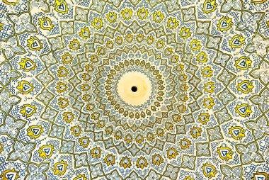 """Картина, постер, плакат, фотообои """"купол мечети, восточные украшения из Исфахан, Иран"""", артикул 9580731"""