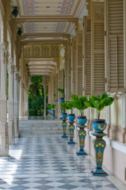 Terrace in colonial style house