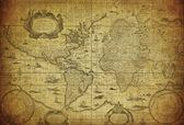 Fotografia Mappa depoca del mondo 1635