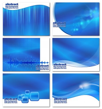 Abstract blue business backgrounds set