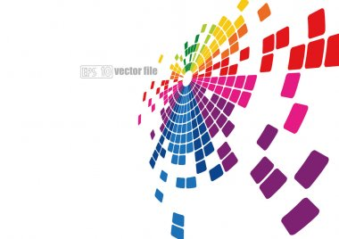 Mosaic abstract bright background Vector