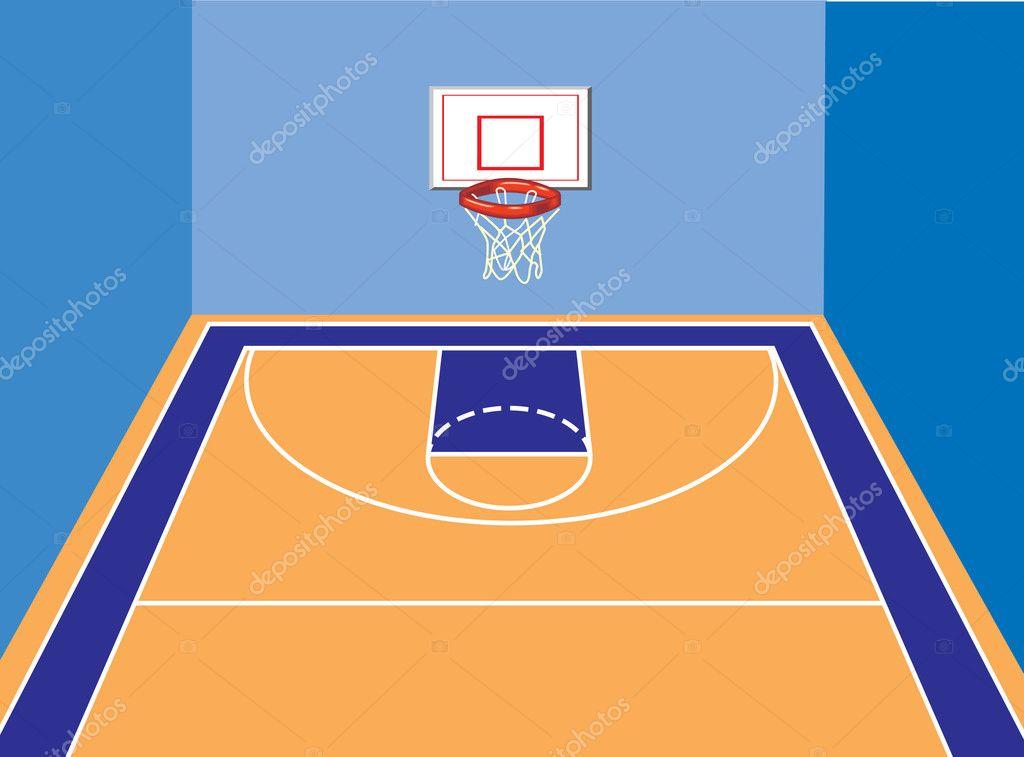 basketball court stock vector kk inc 10460333 rh depositphotos com basketball court vector illustration basketball court vectorworks