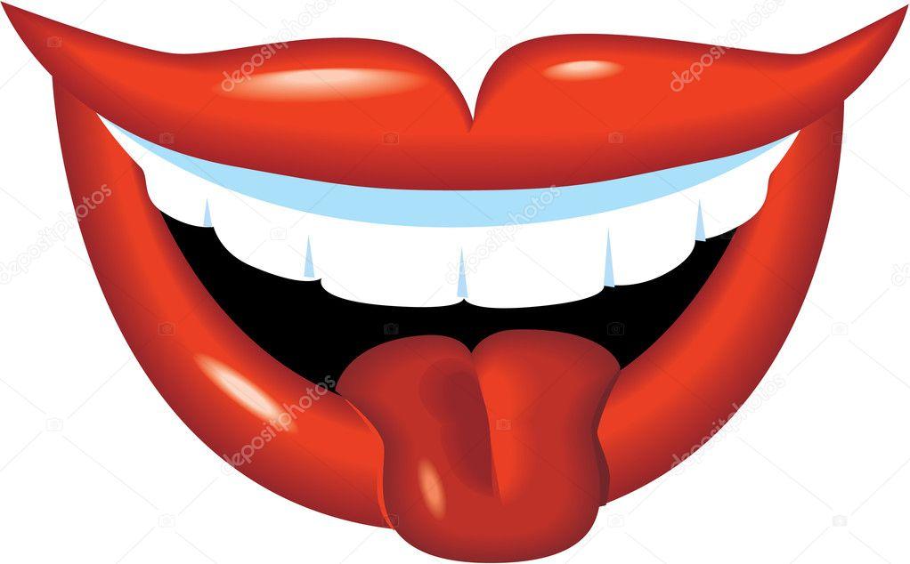 lachende mond en tong stockvector 169 kk inc 10460403