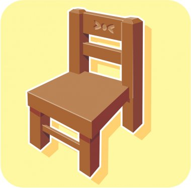 Chair cartoon stock vector