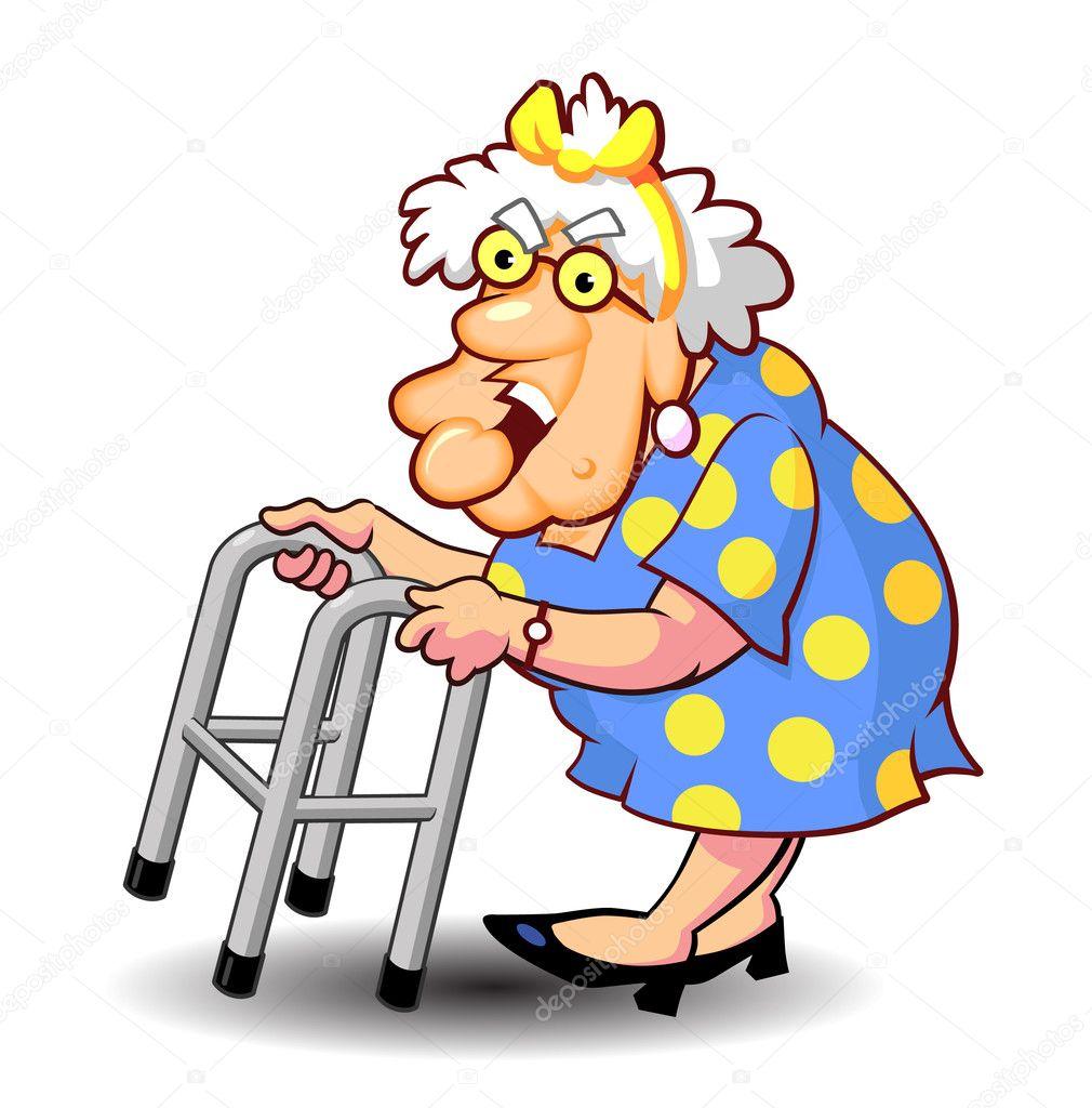 Excelente Anciana Con Andador Modelo - Ideas Personalizadas de Marco ...
