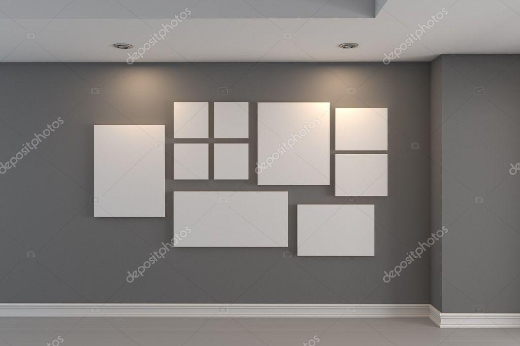 Galerie Das Bild An Der Grauen Wand U2014 Stockfoto