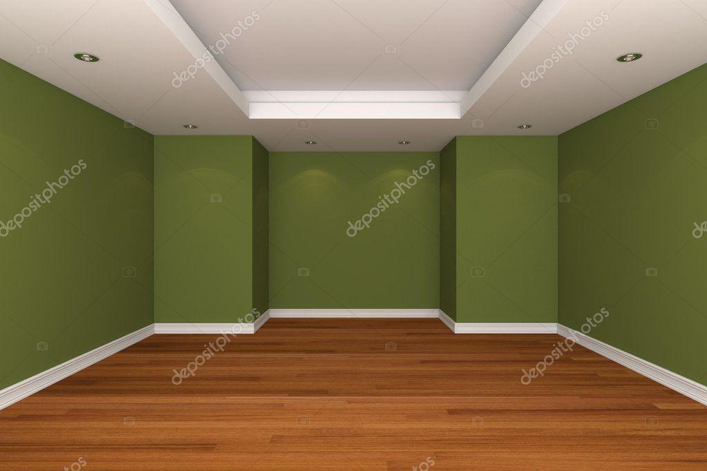 Rendering interni casa con stanza vuota decorare la parete for Decorare la stanza con foto