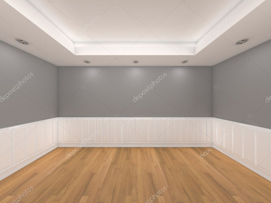 Empty Room Gray Color Wall Stock Photo 169 Sumetho 9862791