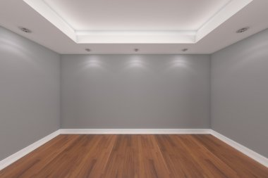 Home interior 3D rendering with empty room