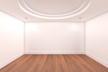 Empty room white wall