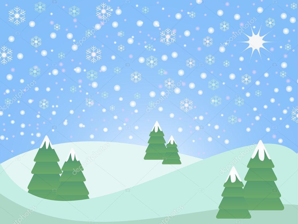 Foto Di Natale Neve Inverno 94.Vettore Paesaggio Innevato Paesaggio Innevato Natale Vettoriali