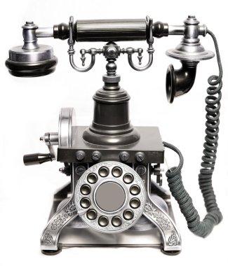 Vintage phone isolated