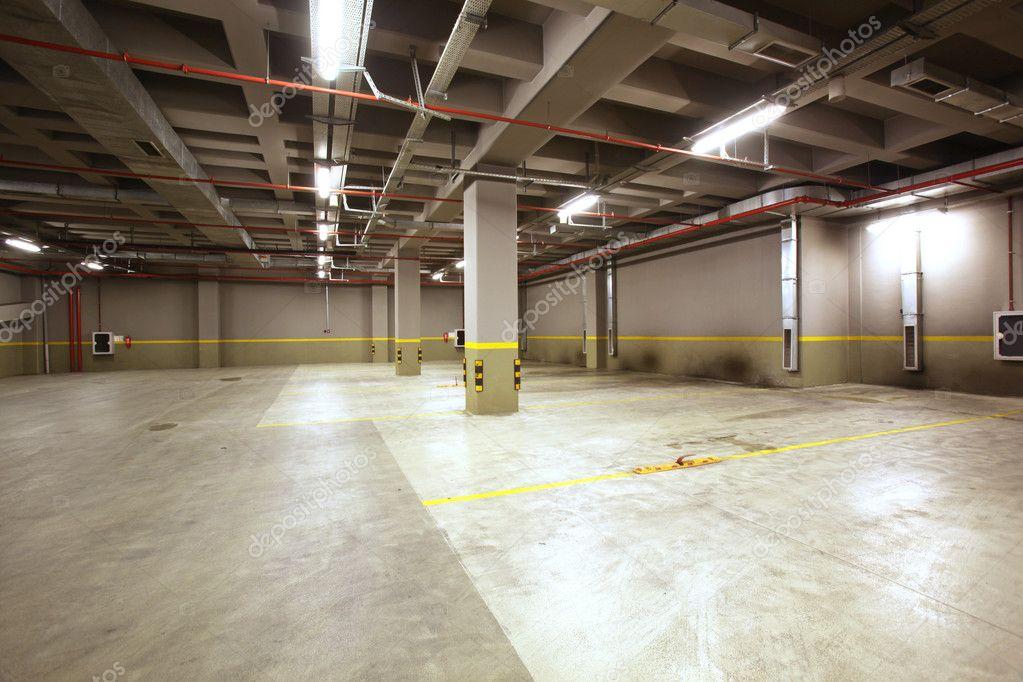 Parking garage interior