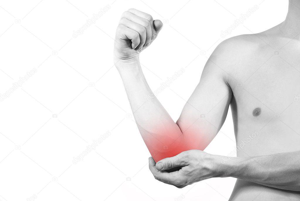 Krankheit der Ellenbogen oder hand — Stockfoto © m.ilias1987 #10092685