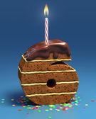 Photo Chocolate birthday cake