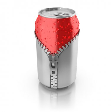 Aluminium can unzipped