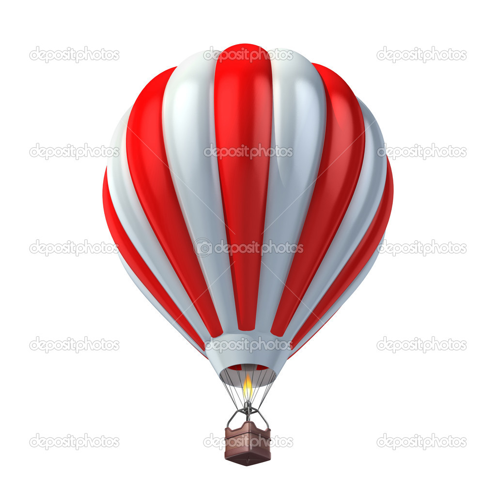 Air balloon 3d illustration