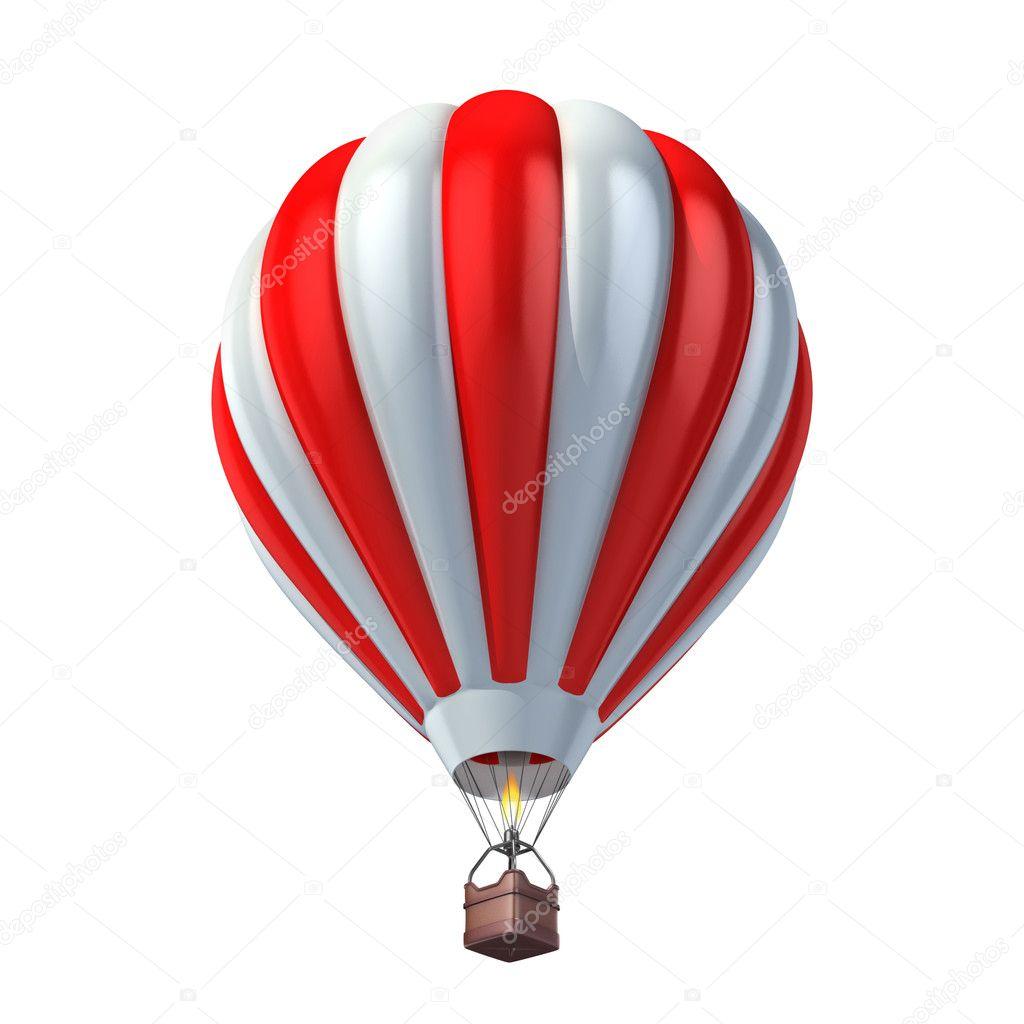 Air balloon 3d illustration