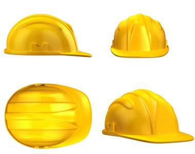 Construction helmet from different views