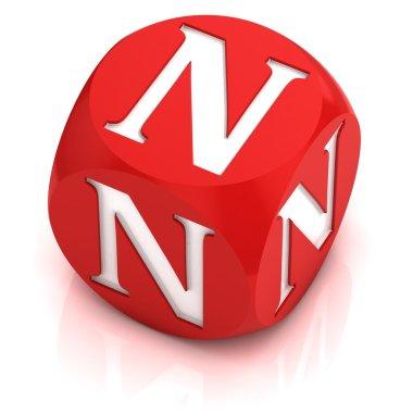 Dice font letter N
