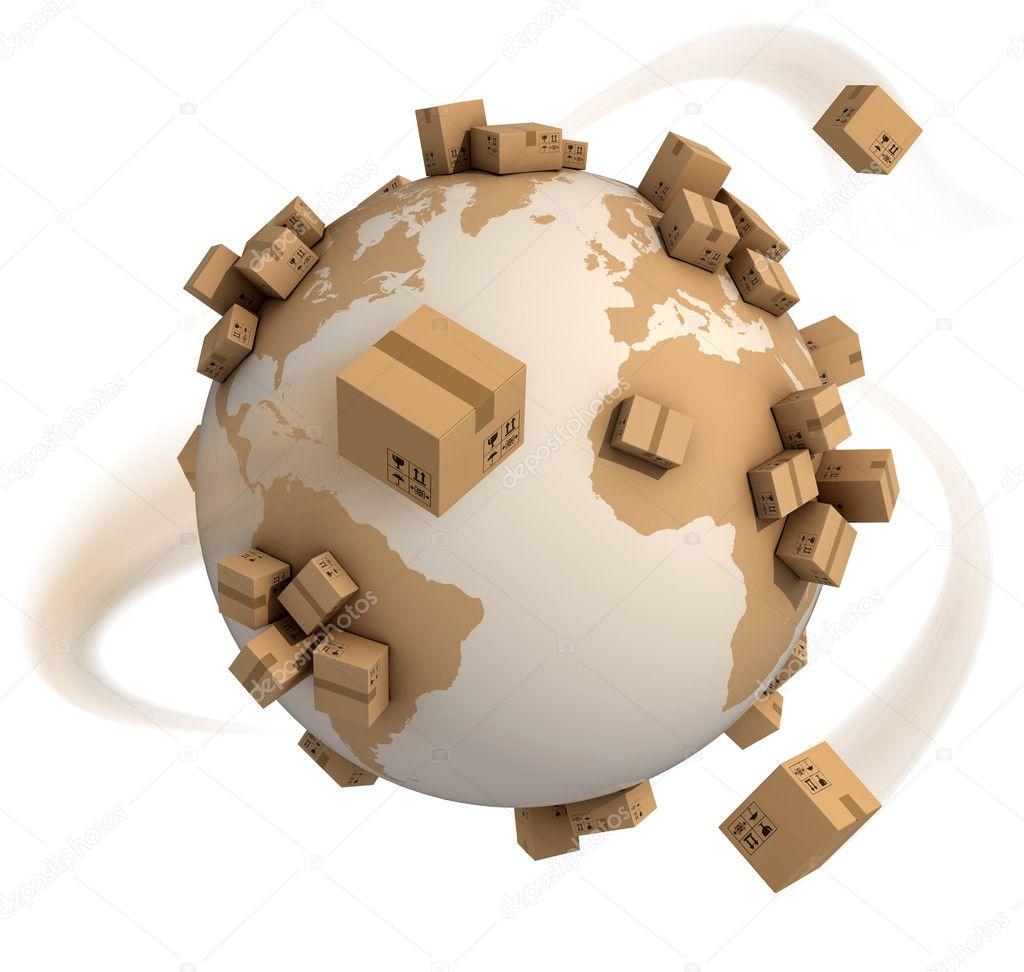 Cardboard boxes around the world