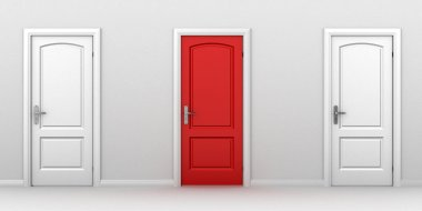 Right choice red door concept
